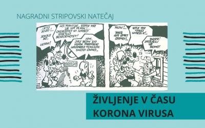 """NAGRADNI NATEČAJ ZA STRIP """"Življenje v času koronavirusa"""""""